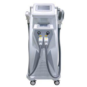 Багатофункціональний елос апарат для епіляції на три ручки : Elight (RF+IPL),FHR, RF, ND-Yag неодимовий лазер